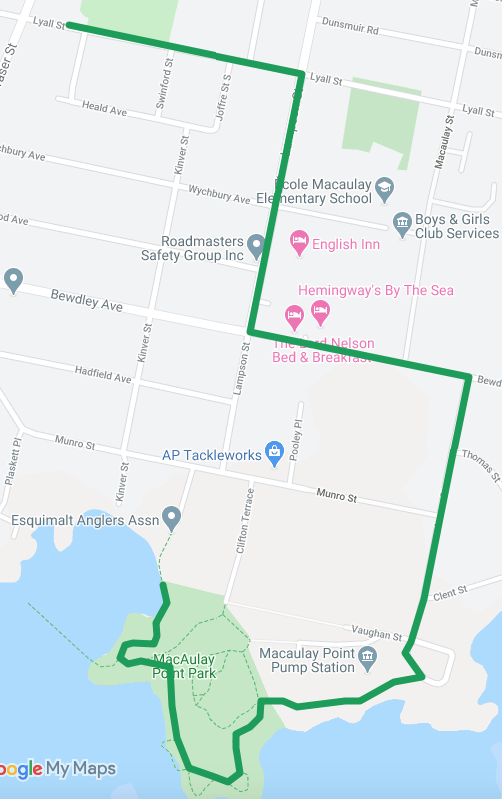 a map of the adult run course