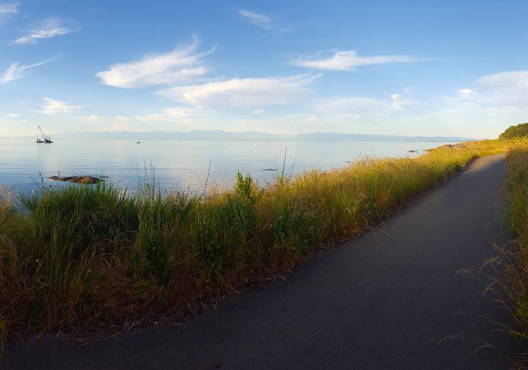 Views of the Salish Sea during the 2017 Triathlon of Compassion.
